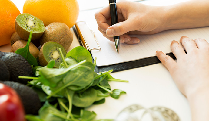 writing a healthy meal plan