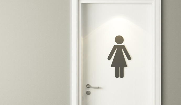womens bathroom sign